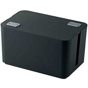エレコム ケーブルボックス 「幅250mm」 EKC‐BOX002BK (ブラック)