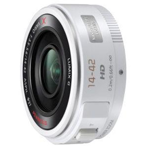 パナソニック 交換レンズ LUMIX G X VARIO PZ 14−42mm/F3.5−5.6 H‐PS14042‐W (ホワイト)