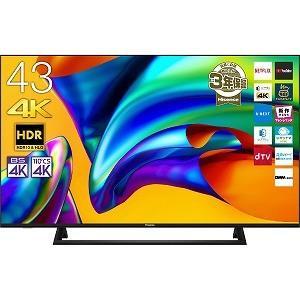 ハイセンス 43V型4K対応液晶テレビ(4Kチューナー内蔵) 43E6800 ブラック(標準設置無料)