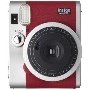 富士フイルム 「数量限定」インスタントカメラ instax mini 90 『チェキ』 ネオクラシック レッド INSMINI90RED(レット