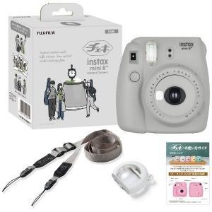 富士フイルム インスタントカメラ 『チェキ』 instax mini 8+ 純正ショルダーストラップ付 INSMINI8PLUSSESAME