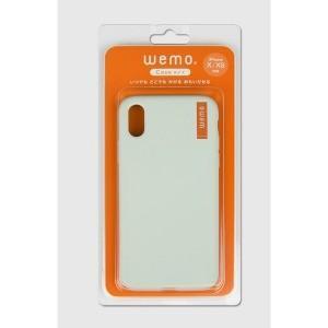 コスモテック wemo ウェアラブルメモ ケースタイプ (iPhone X/XS用・ペールグリーン)...