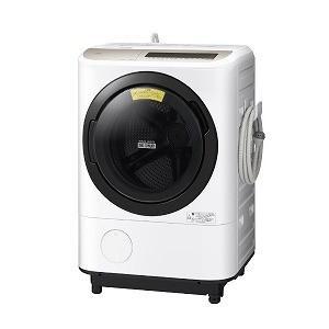 日立 ドラム式洗濯乾燥機[洗濯12.0kg/乾燥6.0kg/ヒーター乾燥/左開き] BD−NV120EL−N ホワイト(標準設置無料)の画像