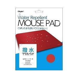 撥水マウスパッド レッド MUP924R(レット|y-kojima