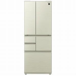 シャープ SHARP 6ドア 冷蔵庫(502L・フレンチドア) SJ−F501F−N ゴールド(標準...