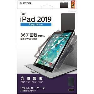 エレコム ELECOM iPad 10.2 モデル/ソフトレザー/360度回転/ブラック TB−A1...