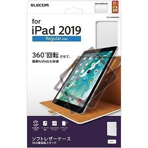 エレコム ELECOM iPad 10.2 モデル/ソフトレザー/360度回転/ホワイト TB−A1...