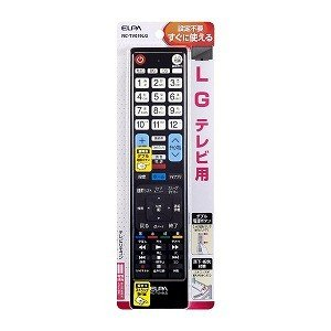 エルパ テレビリモコン LG用 RC−TV019LG RCTV019LG