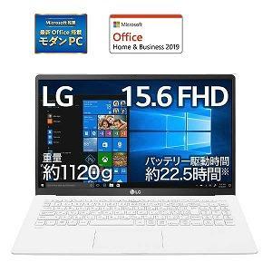LGエレクトロニクス ノートパソコン gram [15.6型/intel Core i5/SSD:2...