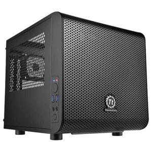 THERMALTAKE Mini ITX対応ミニPCケース Core V1 (電源なし・ブラック) CA-1B8-00S1WN-00 コジマPayPayモール店
