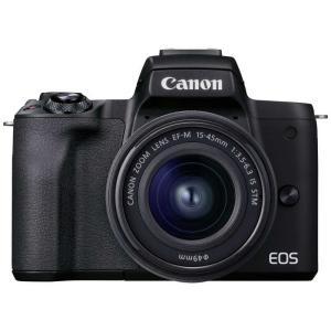 EOS Kiss M2 ミラーレス一眼カメラ EF−M15−45 IS STM レンズキット [ズームレンズ] EOSKISSM2BK1545ISLK ブラック コジマPayPayモール店