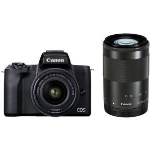 EOS Kiss M2 ミラーレス一眼カメラ IS STM ダブルズームキット [ズームレンズ+ズームレンズ] EOSKISSM2BKWZK ブラック|コジマPayPayモール店
