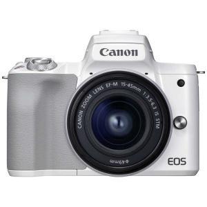 EOS Kiss M2 ミラーレス一眼カメラ EF−M15−45 IS STM レンズキット [ズームレンズ] EOSKISSM2WH1545ISLK ホワイト コジマPayPayモール店