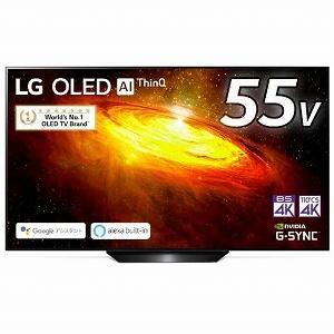 LG 55V型有機ELテレビ[4K対応/4Kチューナー内蔵] LG ブラック OLED55BXPJA...
