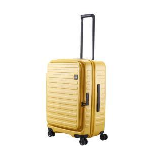 LOJEL スーツケース CUBO(キューボ)−N Mサイズ マスタード CUBO-N-MMS|コジマPayPayモール店