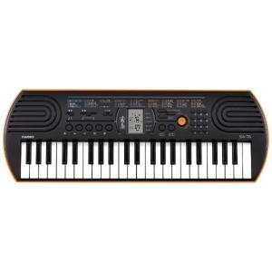 カシオ CASIO ミニキーボード(ブラック/オレンジ・44鍵盤) SA-76|コジマPayPayモール店
