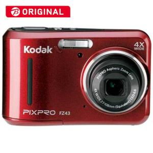 コダック コンパクトデジタルカメラKodak PIXPRO FZ43RD (レッド)|コジマPayPayモール店