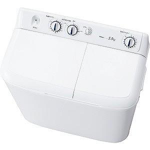 ハイアール 二槽式洗濯機(5.5kg) JW‐W55E‐W ...