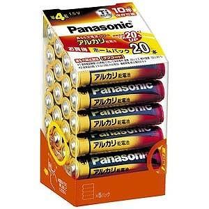 パナソニック アルカリ乾電池単4形20本パック LR03XJ...