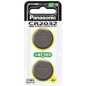 パナソニック コイン形リチウム電池(2個入) CR2032/2P