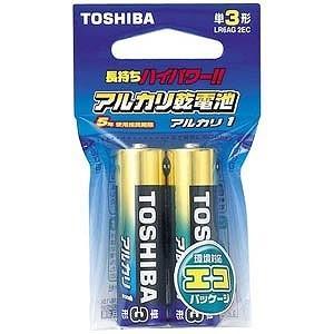東芝 「単3形乾電池」アルカリ乾電池 「アルカリ1」2本 L...