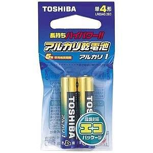 東芝 「単4形乾電池」アルカリ乾電池 「アルカリ1」2本 L...