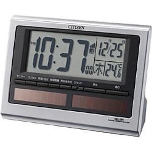 シチズン 電波目覚まし時計「パルデジットソーラーR125」 ...