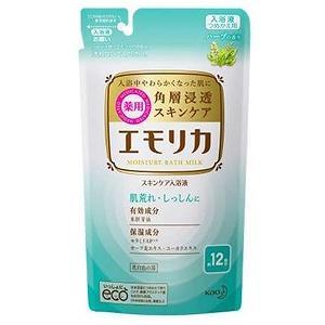 花王 emollica(エモリカ) 薬用スキンケア入浴液 ハーブの香り つめかえ用 360ml 〔入浴剤〕