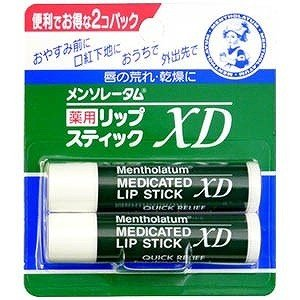 ロート製薬 「メンソレータム」薬用リップスティックXD 2個パック メンソレ‐タムXDリップ 2P