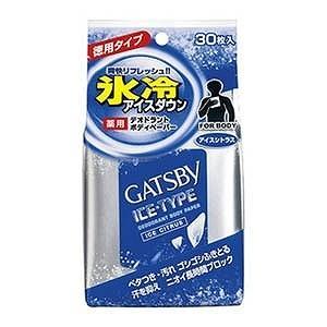 マンダム ギャツビー アイスデオドラントボディペーパー アイスシトラス 徳用 30枚 GBアイスデオBペーパートクヨウシ
