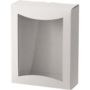 ヘッズ シンプルクオリティ窓付ギフトボックス/ホワイト-1 SIW-WGB1 1セット(30枚:10...