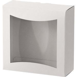 ヘッズ シンプルクオリティ窓付ギフトボックス/ホワイト-2 SIW-WGB2 1セット(30枚:10...