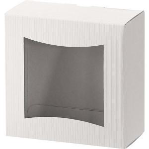 ヘッズ シンプルクオリティ窓付ギフトボックス/ホワイト-3 SIW-WGB3 1セット(30枚:10...