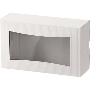 ヘッズ シンプルクオリティ窓付ギフトボックス/ホワイト-4 SIW-WGB4 1セット(30枚:10...