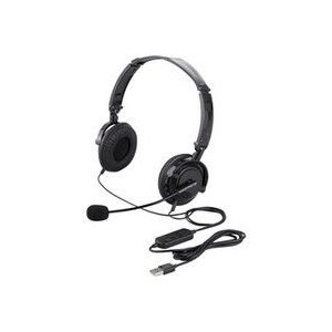 バッファロー 両耳ヘッドバンド式ヘッドセット USB接続/折りたたみタイプ ブラック BSHSUH13BK 1台(直送品)|y-lohaco2