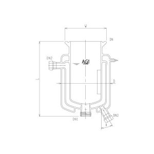 旭製作所 三重管式反応容器 メッキ・撹拌バッフル付 3970-6000-M-AP 1個 62-2115-94(直送品)