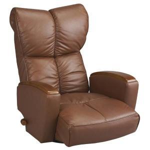 宮武製作所 肘付本革座椅子-風雅- ブラウン (直送品)|y-lohaco2|01