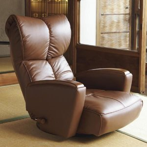 宮武製作所 肘付本革座椅子-風雅- ブラウン (直送品)|y-lohaco2|08