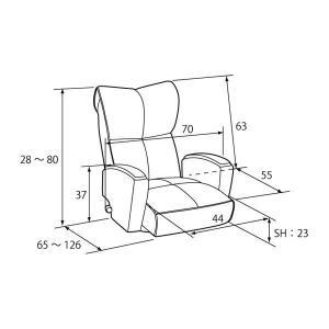 宮武製作所 肘付本革座椅子-風雅- ブラウン (直送品)|y-lohaco2|09