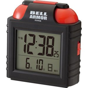 ノア精密 大音量アラームクロック:ベルアーマー 置き時計  アラーム カレンダー   129×120...