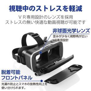 VRゴーグル スマホ対応 DMM_VR動画スターターセット 1000円相当ポイント付与シリアル付 VRG-D02PBK エレコム 1個(直送品)|y-lohaco2|04