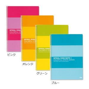 プラス スパイラルリングノート セミB5 6.5mm横罫 4色セット 76801|LOHACO PayPayモール店