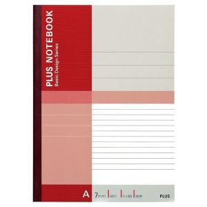 プラス 無線綴じノート ベーシック セミB5 A罫 30枚 赤 1パック(10冊入) 75085|LOHACO PayPayモール店