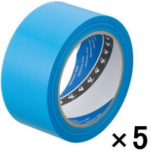 寺岡製作所 養生テープ P-カットテープ No.4140 塗装養生用 青 幅50mm×長さ25m巻 ...