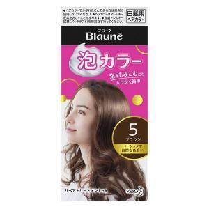 ブローネ 泡カラー 白髪染め 5 ブラウン 花王