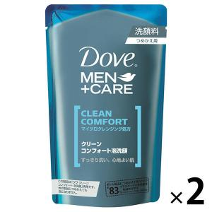 Dove MEN(ダヴメン)洗顔料 泡洗顔 クリーンコンフォート 詰替 110ml 2個 ユニリーバ