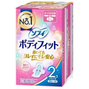 ナプキン 生理用品 ふつうの日用 羽つき ソフィ ボディフィット 1セット(22枚×2個) ユニ・チ...