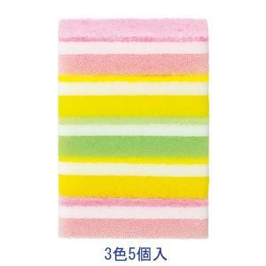 キッチンスポンジ 泡キュット ソフトスポンジ アソートセット 1パック(5個入)