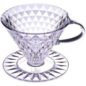 キーコーヒー 円すい形クリスタルドリッパー 約1〜4杯用 1個