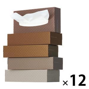 ティッシュペーパー 200組 (5箱入)×12パック オリジナルティッシュ MOCHA (モカ) 5colors 1ケース(60箱入) アスクル|y-lohaco